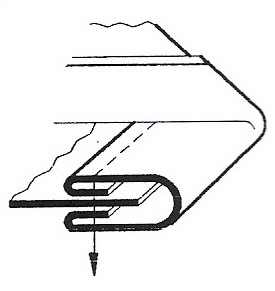 Aparelho de debrum com duas viras para base plana