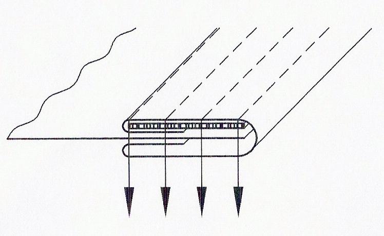 Aparelho de debrum com elástico para multi-agulhas